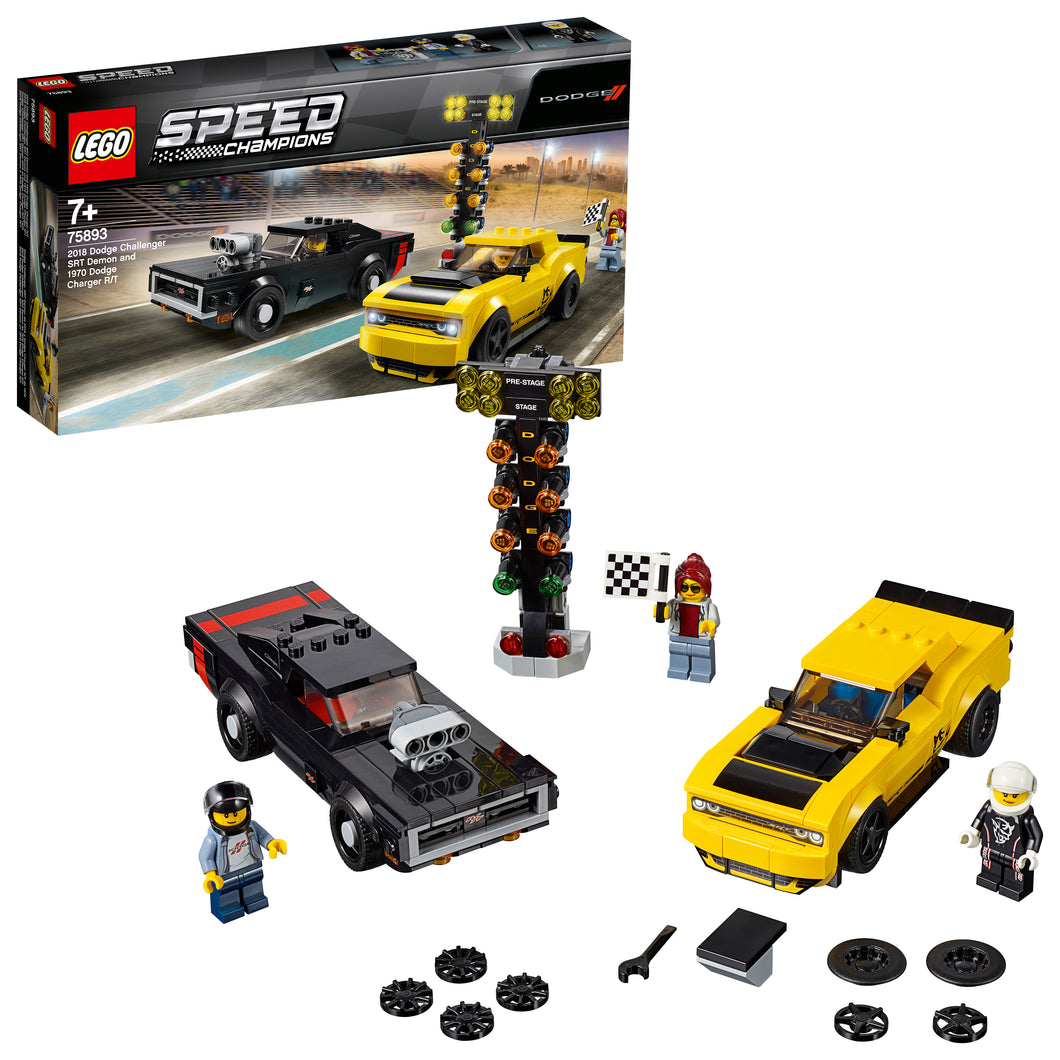 LEGO® Speed Champions 2018 Dodge Challenger SRT Demon and 1970 Dodge Charger R/T - 75893