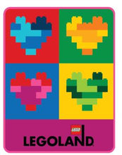 Load image into Gallery viewer, LEGOLAND® EXCLUSIVE! Totally Bricks of the Heart Throw