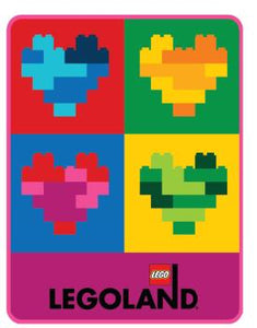 LEGOLAND® EXCLUSIVE! Totally Bricks of the Heart Throw