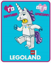 Load image into Gallery viewer, LEGO® Unicorn Girl Wishes Plush Throw - Save $5