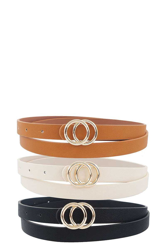 3 Pcs. Fashion Infinity Buckle Belt Set