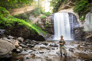 looking glass davidson river fly fishing blue ridge parkway waterfalls trout bamboo fly rods