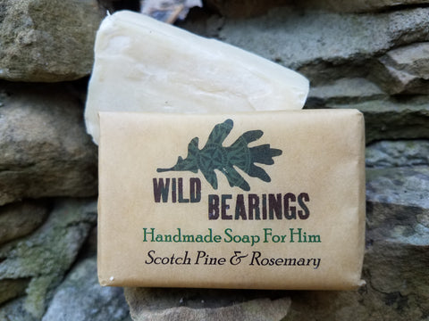 Woodsman Soap - Scotch Pine & Rosemary (3-pack)