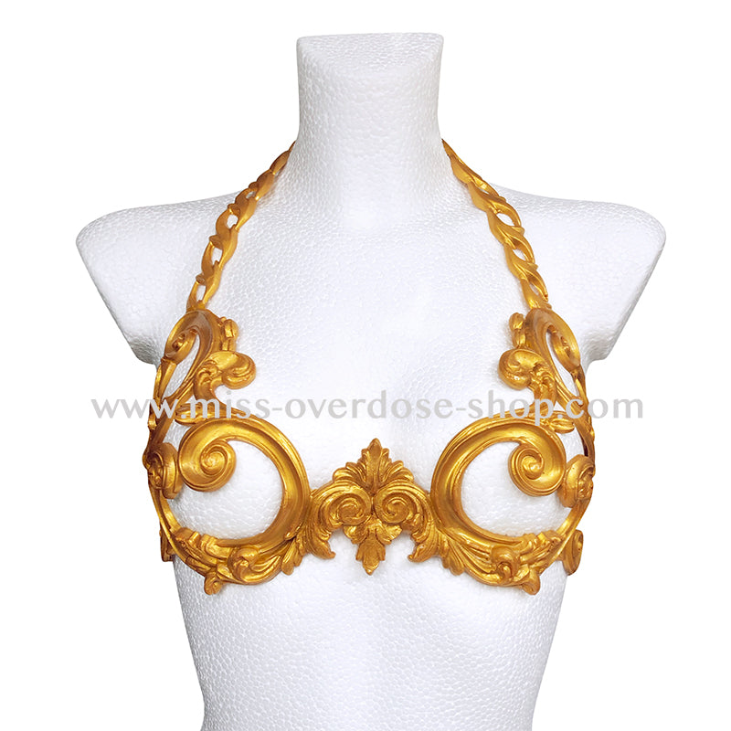Baroque latex bra