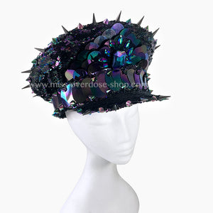 Oil slick officer hat
