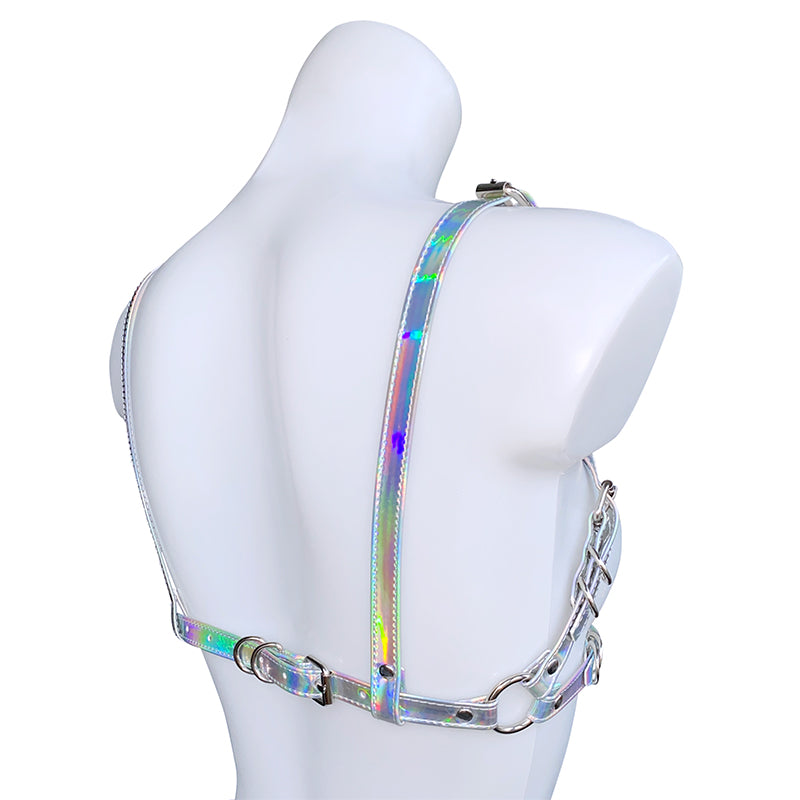 Holographic harness bra