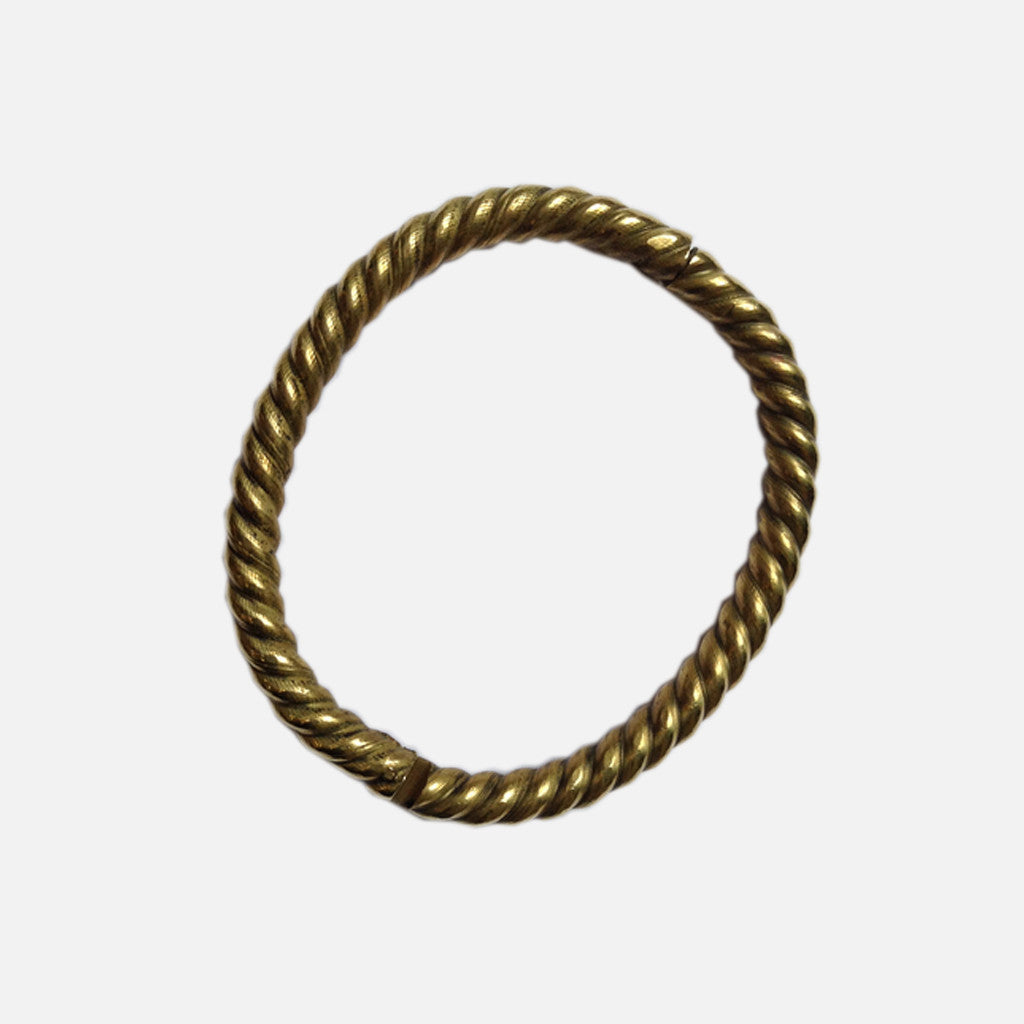 ACCESSORIES // BRASS ROPE // HINGED BRACELET