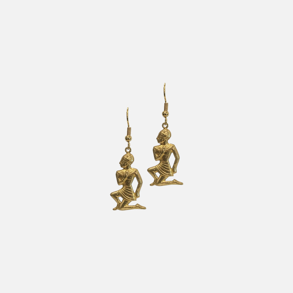 ACCESSORIES // BRASS EGYTIAN EARRINGS