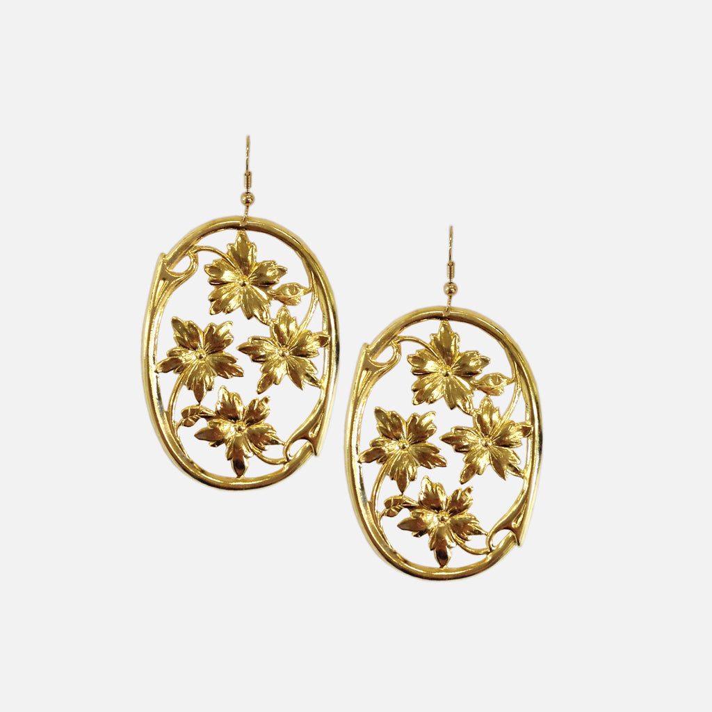 ACCESSORIES // FLORAL GARDEN EARRINGS