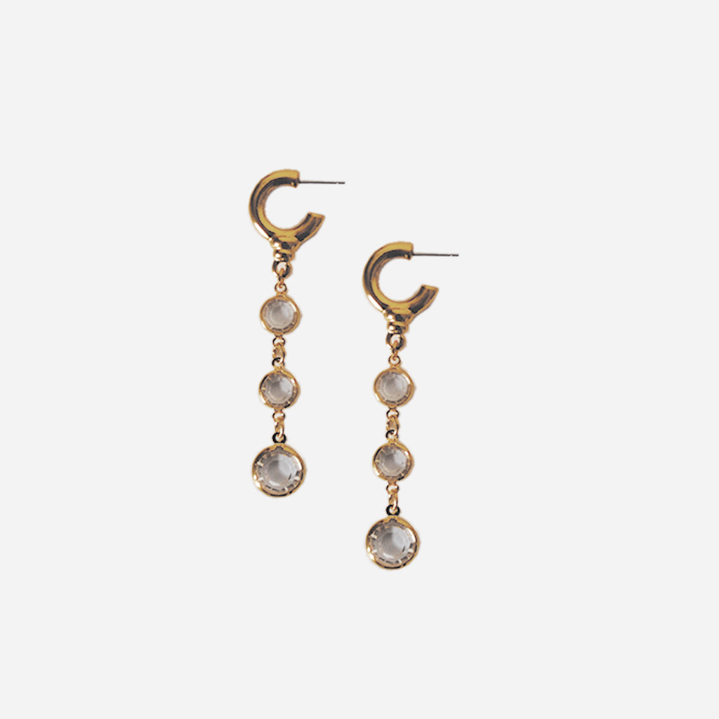 ACCESSORIES // GLASS DROP EARRINGS CLEAR