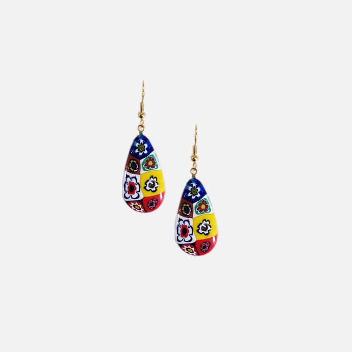 ACCESSORIES // SMALL ITALIAN MILLEFIORI GLASS EARRINGS