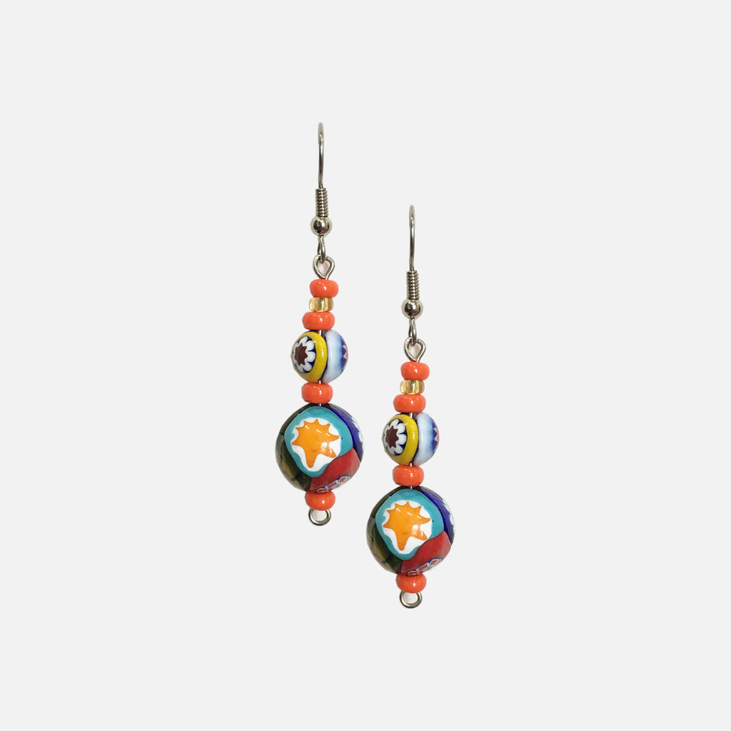 ACCESSORIES // MILLEFIORI EARRINGS