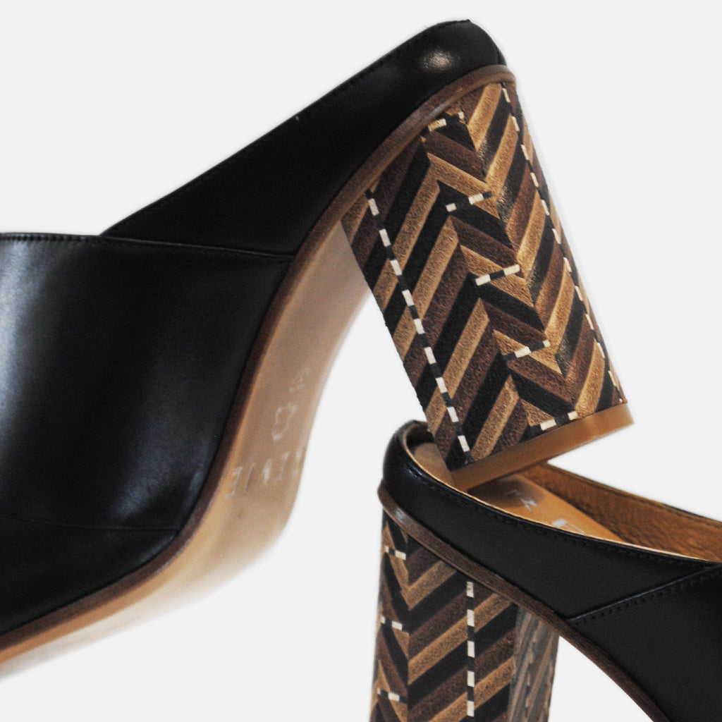 REVIE Mules, High Heels, Shoes, Footwear, Designed in New Zealand, Handmade Quality Leather shoes