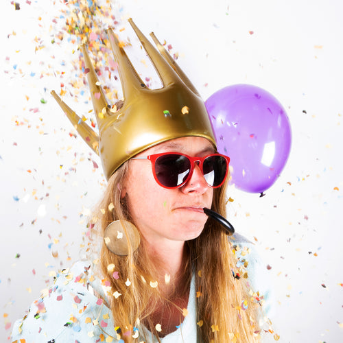 Golden Trötenkrone® - The Party Blower Crown