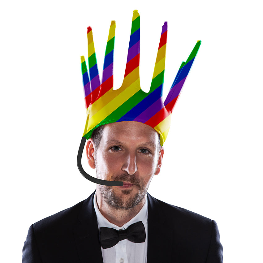 The Trötenkrone or Party Blower Crown is the ultimate Fan Hat, the perfect Party Hat which creates a Sound. The funniest Accessoire you've seen so far. Innovative Merchandise!Birthday Hat.