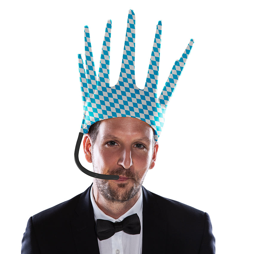 The Trötenkrone or Party Blower Crown is the ultimate Fan Hat, the perfect Party Hat which creates a Sound. The funniest Accessoire you've seen so far. Innovative Merchandise! USA!