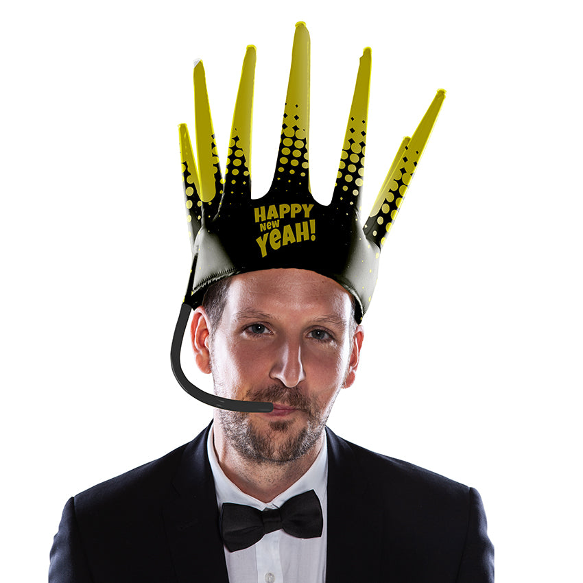 The Trötenkrone or Party Blower Crown is the ultimate Fan Hat, the perfect Party Hat which creates a Sound. The funniest Accessoire you've seen so far. Innovative Merchandise! Oktoberfest Bavarian Seppel Hut.