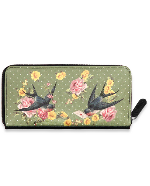 Liquor Brand Sparrows Green Wallet