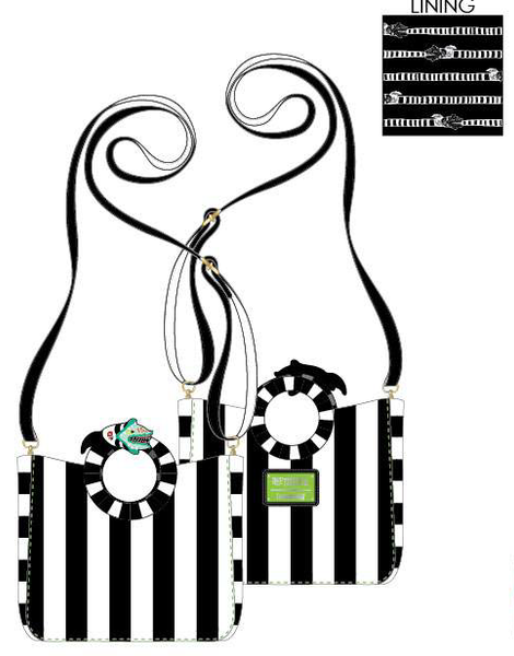 Loungefly Beetlejuice Sandworm Handle Crossbody Bag PRE-ORDER, Price $75