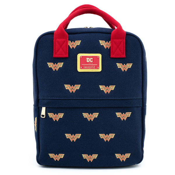 Loungefly DC Comics Wonder Woman Icon Canvas Mini Backpack