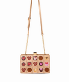 Danielle Nicole Minnie Mouse Chocolate Box Crossbody Bag