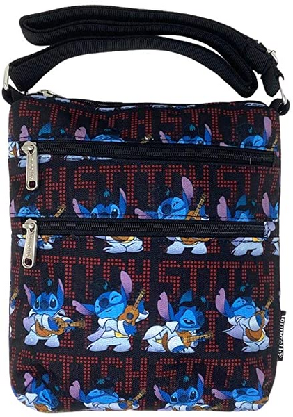 Loungefly Disney Lilo and Stitch Elvis Nylon Passport Bag