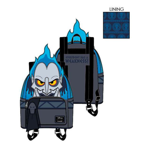 Loungefly Disney Villains Hades Mini Backpack PRE-ORDER, Price $75
