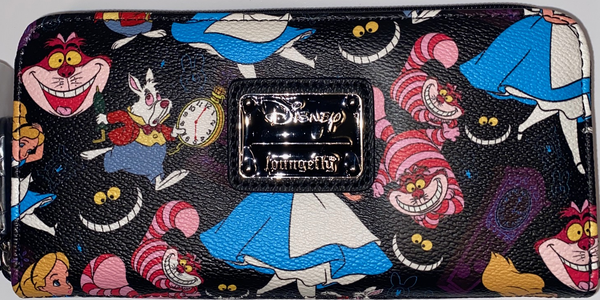 Loungefly Alice in Wonderland Classic Wallet DEFECTIVE (Bad Pattern Placement)