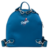 Loungefly MLB Los Angeles Dodgers Satin Jacket Convertible Mini Backpack