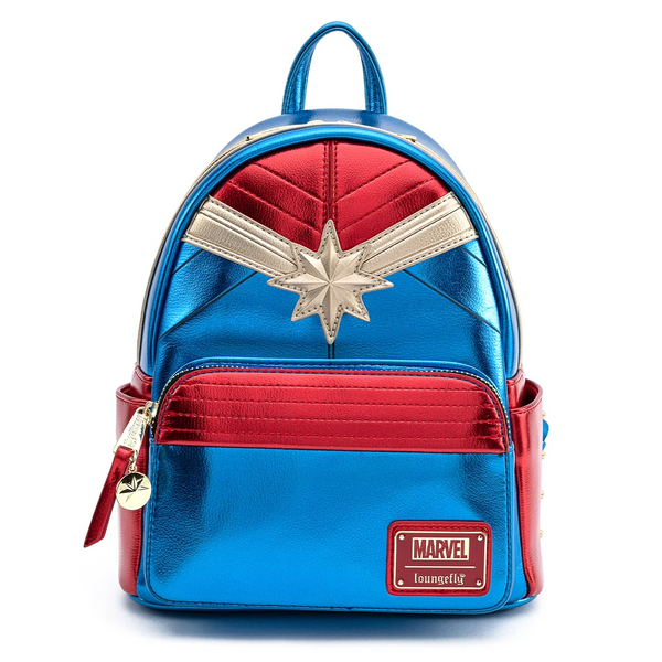Loungefly Marvel Classic Captain Marvel Metallic Mini Backpack