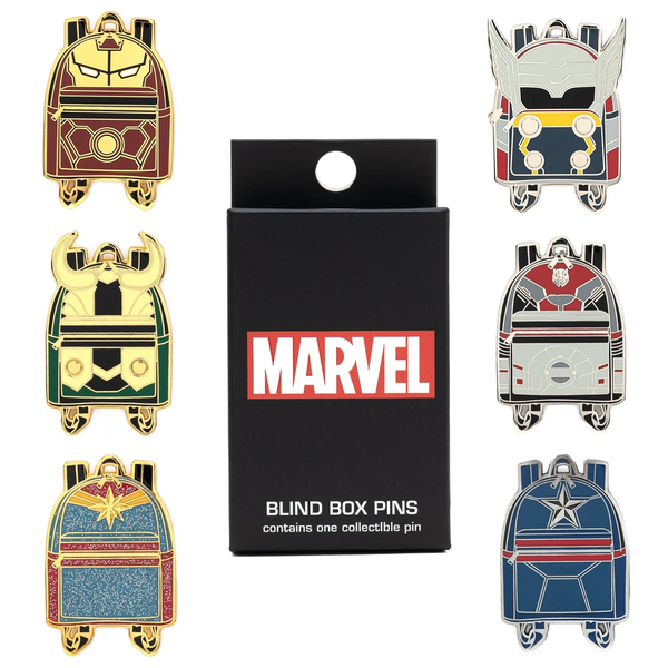 Loungefly Marvel Mini Backpack Blind Box Enamel Pin