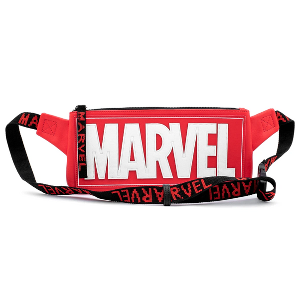 Loungefly Marvel Red Brick Logo Waist/Sling Bag