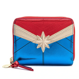 Loungefly Marvel Classic Captain Marvel Metallic Zip Around Wallet
