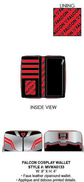 Loungefly Marvel Falcon Cosplay Wallet PRE-ORDER, Price $40