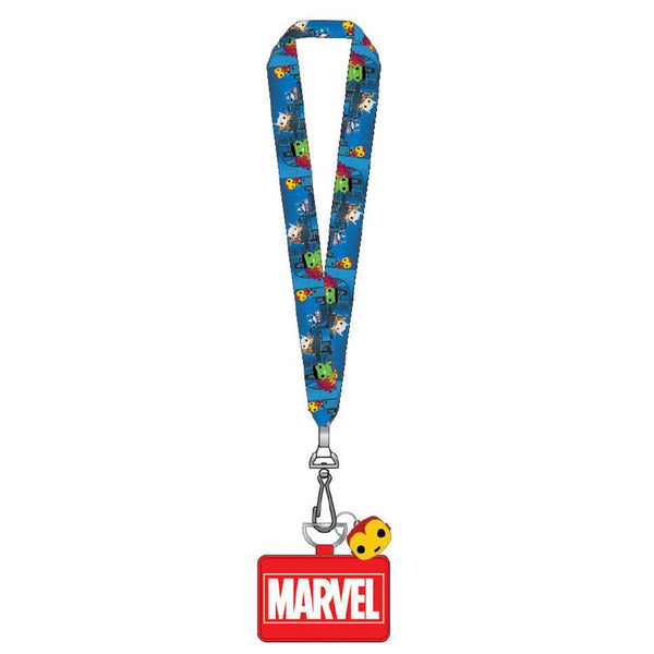 Pop by Loungefly Marvel Logo Lanyard with Cardholder