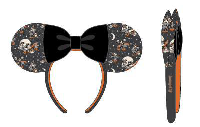 Loungefly Disney Mickey and Minnie Ears Vamp Witch Headband