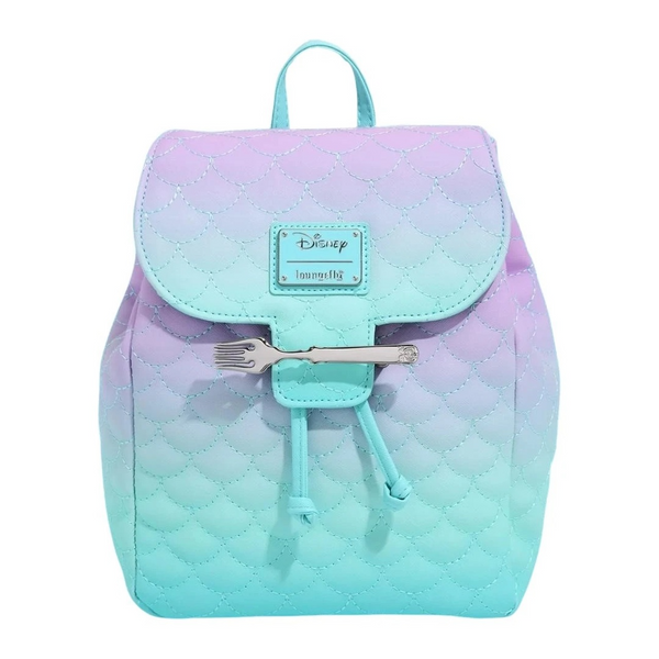 Loungefly Little Mermaid Ombre Scales Mini Backpack