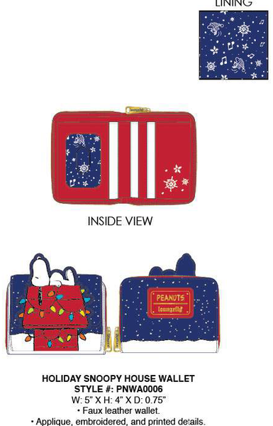 Loungefly Holiday Snoopy House Wallet PRE-ORDER, Price $40