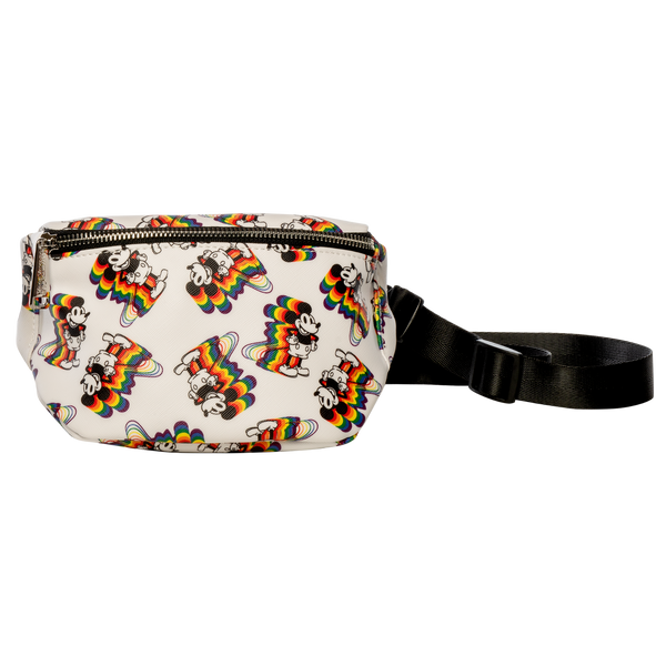 Loungefly Disney Mickey Rainbows Faux Leather Fanny Pack
