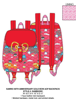 Loungefly Sanrio 60th Anniversary Gold Bow Mini Backpack PRE-ORDER, Price $75