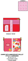 Loungefly Sanrio 60th Anniversary Wallet PRE-ORDER, Price $40