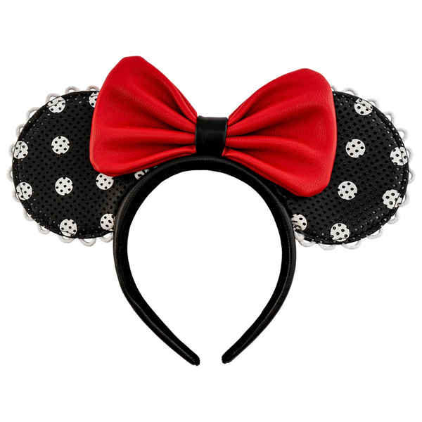 Loungefly Disney Minnie Mouse Polka Dot Pin Trader Ears Headband