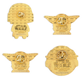 Loungefly Star Wars Mandalorian The Child Baby Yoda 4 Piece Pin Set
