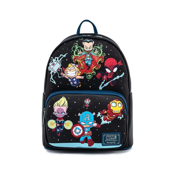 Loungefly Marvel Sy Chibi Group Mini Backpack