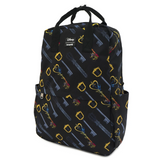 Loungefly Disney Kingdom Hearts Keys Nylon Backpack