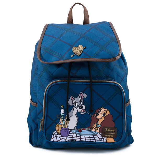 Loungefly Disney Lady and the Tramp Nylon Slouch Backpack