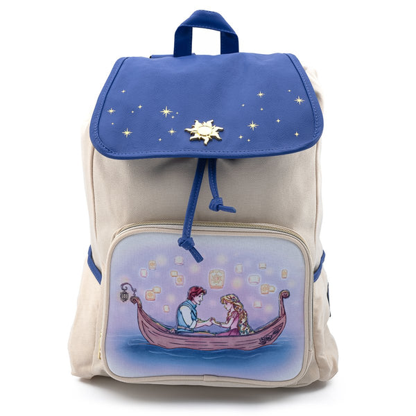 Loungefly Disney Tangled Canoe Scene Nylon Slouch Backpack
