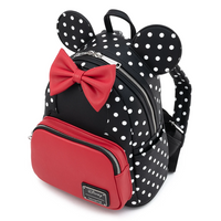Loungefly Disney Minnie Mouse Black and White Polka Dot Mini Backpack