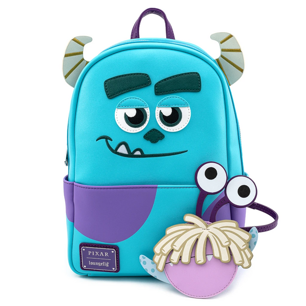 Loungefly Pixar Monsters Inc Sully Mini Backpack with Boo Coin Purse
