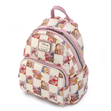 Loungefly Disney Multi Character Rose Checker Mini Backpack